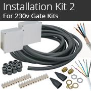 Installation Kit 2 - For 230v Gate Kits