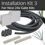 Installation Kit 3 - For 24v Nice Gate Kits