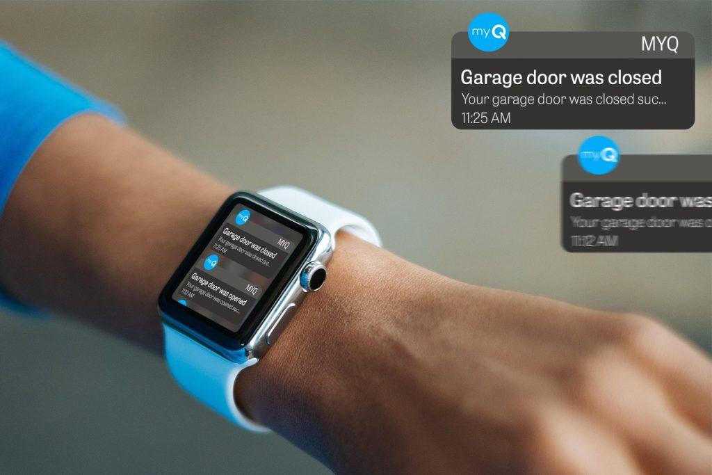 MyQ app on Apple Watch