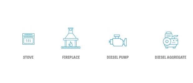 Stove, Fireplace, Diesel Pump, Diesel Aggregate