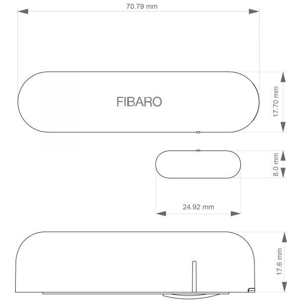 Fibaro Door and Window Sensor Dimensions