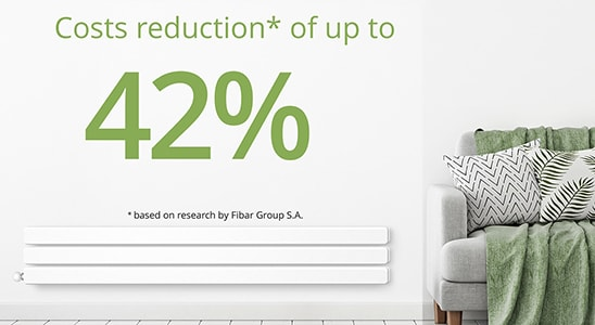 Cost reductions* of up to 42% *based on research by Fibaro Group S.A