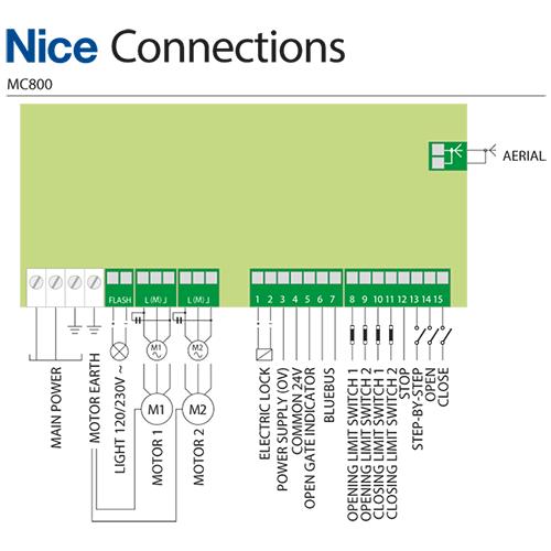 Nice Mc800 230v Control Board