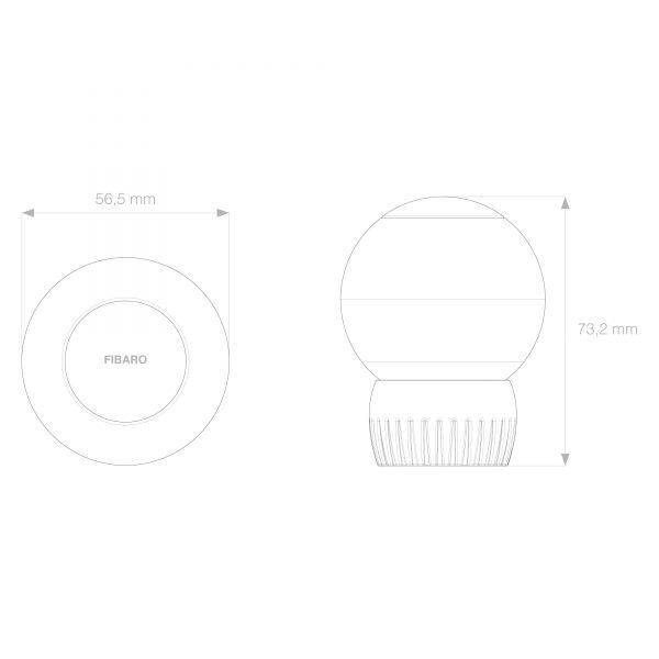 Fibaro Heat Controller Dimensions