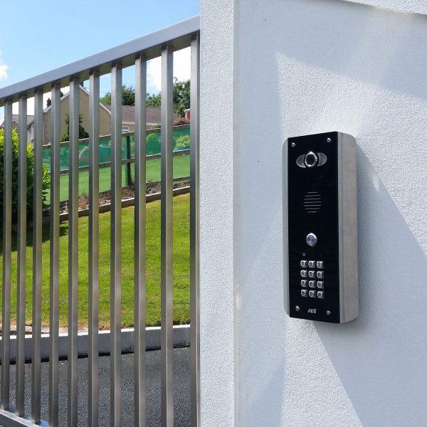 AES PRED2-WIFI-ABK Intercom Beside A Gate