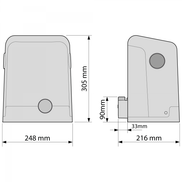 NiceHome FILO Motor Dimensions