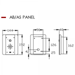 AES AB/AS Panel Dimensions