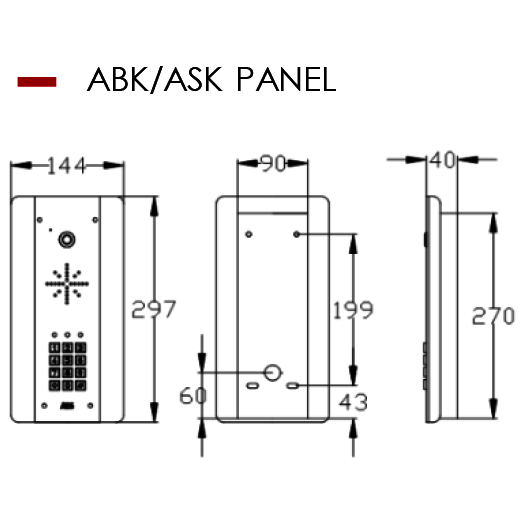 AES ABK/ASK Panel Dimensions