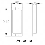 AES DECT 705 Antenna Dimensions