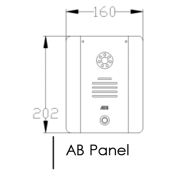 AES DECT 705-HF-AB Intercom Dimensions