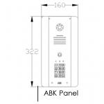 AES DECT 705-HF-ABK Intercom Dimensions