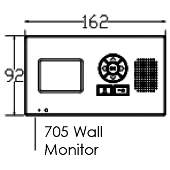 AES DECT 705 Monitor Dimensions