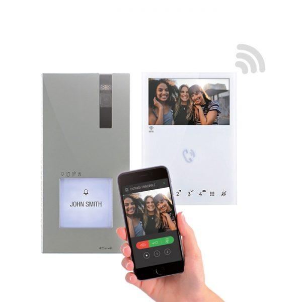 Comelit Quadra Video Intercom with Mini Handsfree Wi-fi Monitor