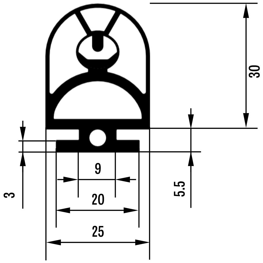 Dimensions for the GF25.30 SENTIR edge