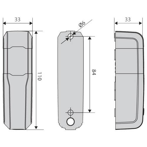 BFT Compacta Photocell Dimensions