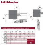 LiftMaster LYN400 Series Geometry