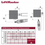 LiftMaster SCS300 Series Geometry