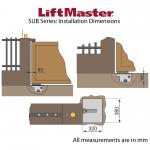 LiftMaster SUB Series Installation Dimensions