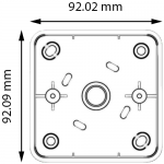 DRB-IR-1224S Infrared IR Push Button Dimensions 1