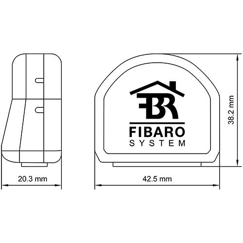Fibaro Switch Dimensions