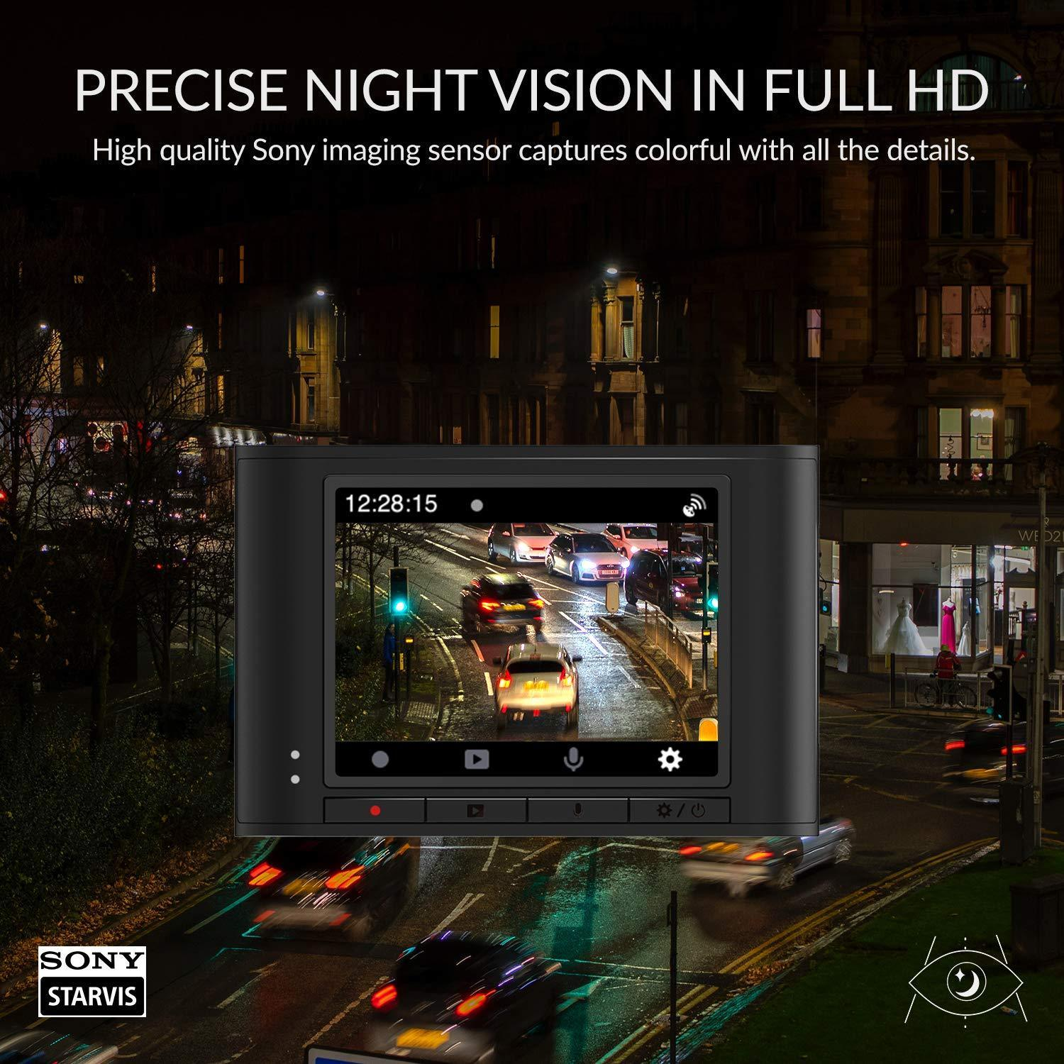 Precise Night Vision in full HD - High quality Sony imaging sensor captures colourful images with all the details