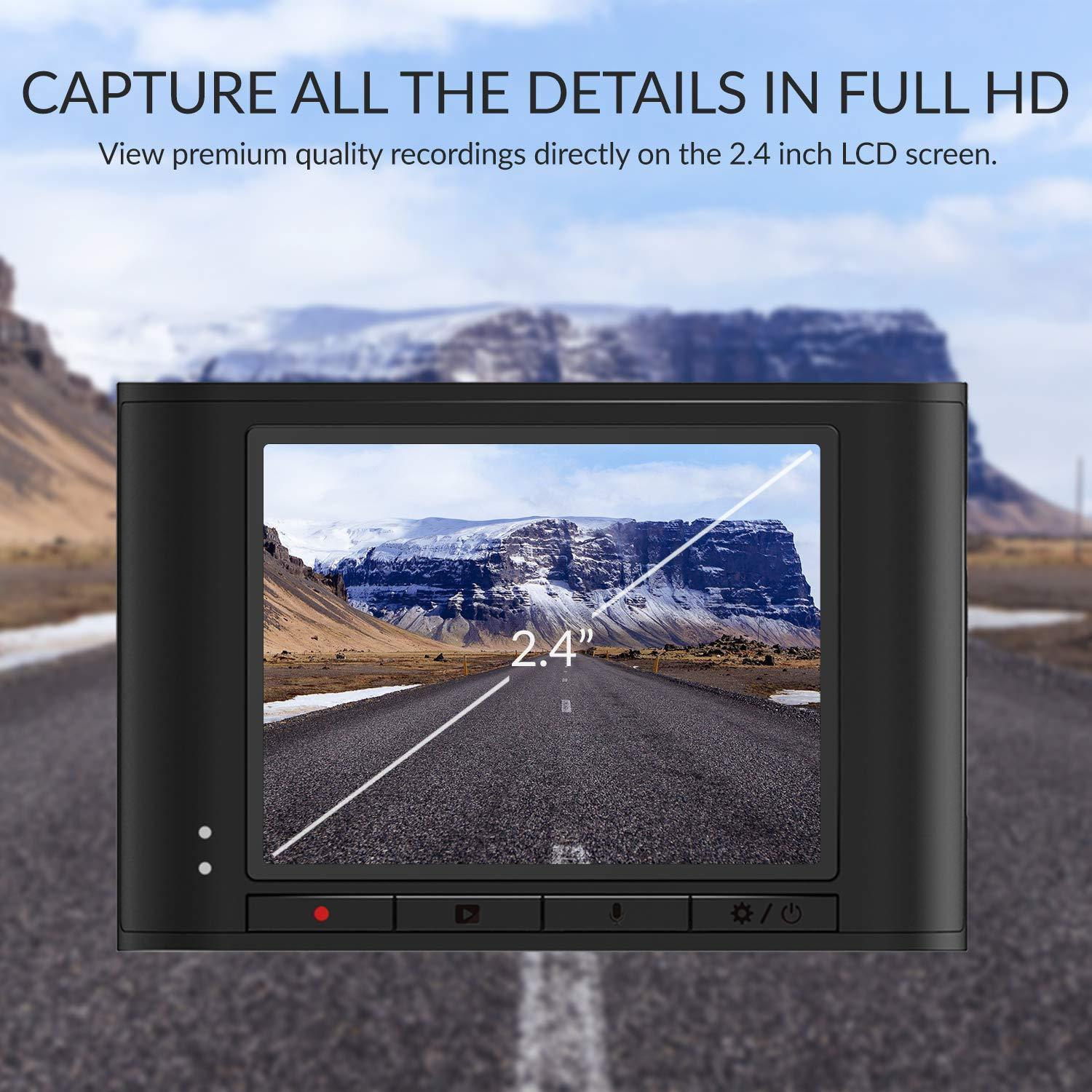 Capture all the details in full HD - View premium quality recordings directly on the 2.4 inch LCD screen
