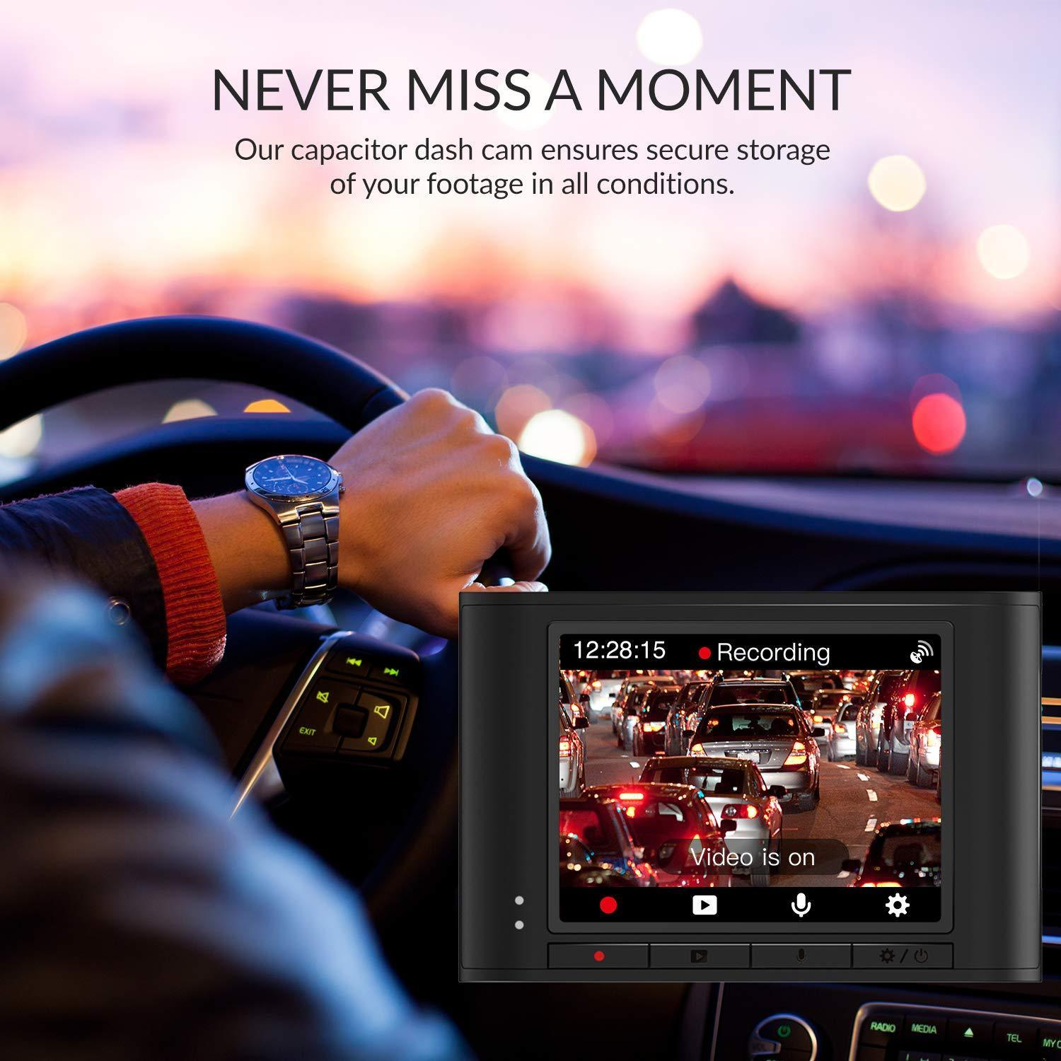 Never miss a moment - Our capacitor dash cam ensures secure storage of your footage in all conditions