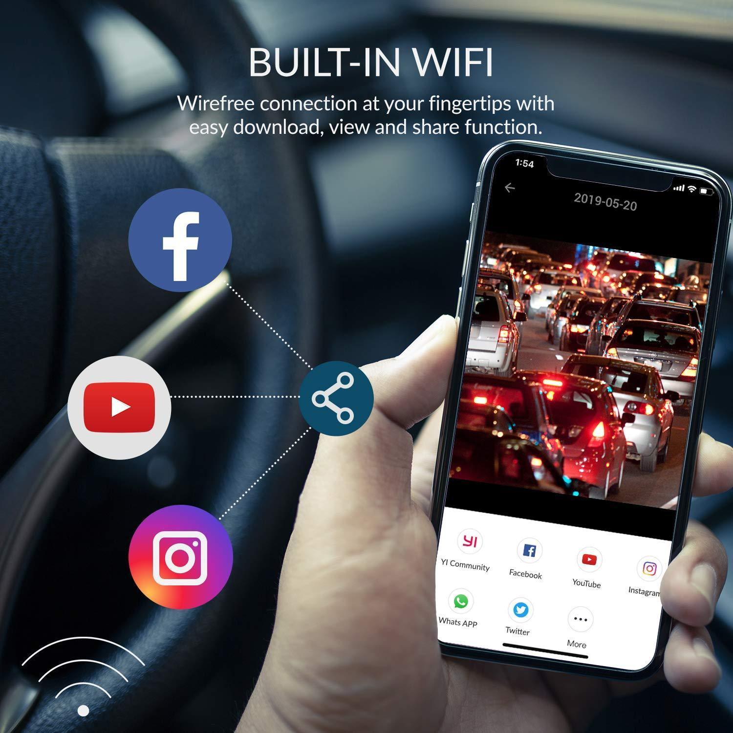 Built-in Wifi - Wirefree connection at your fingertips with easy download, view and share function