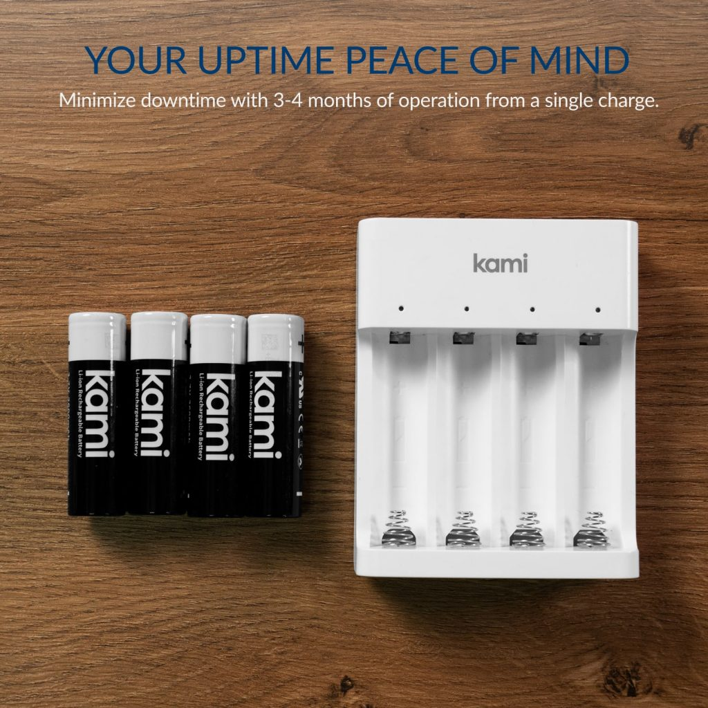 Your Uptime Peace of Mind - Minimise downtime with 3 - 4 months of operation from a single charge