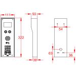 AES MultiCOM Classic 4G Series Intercom Dimensions