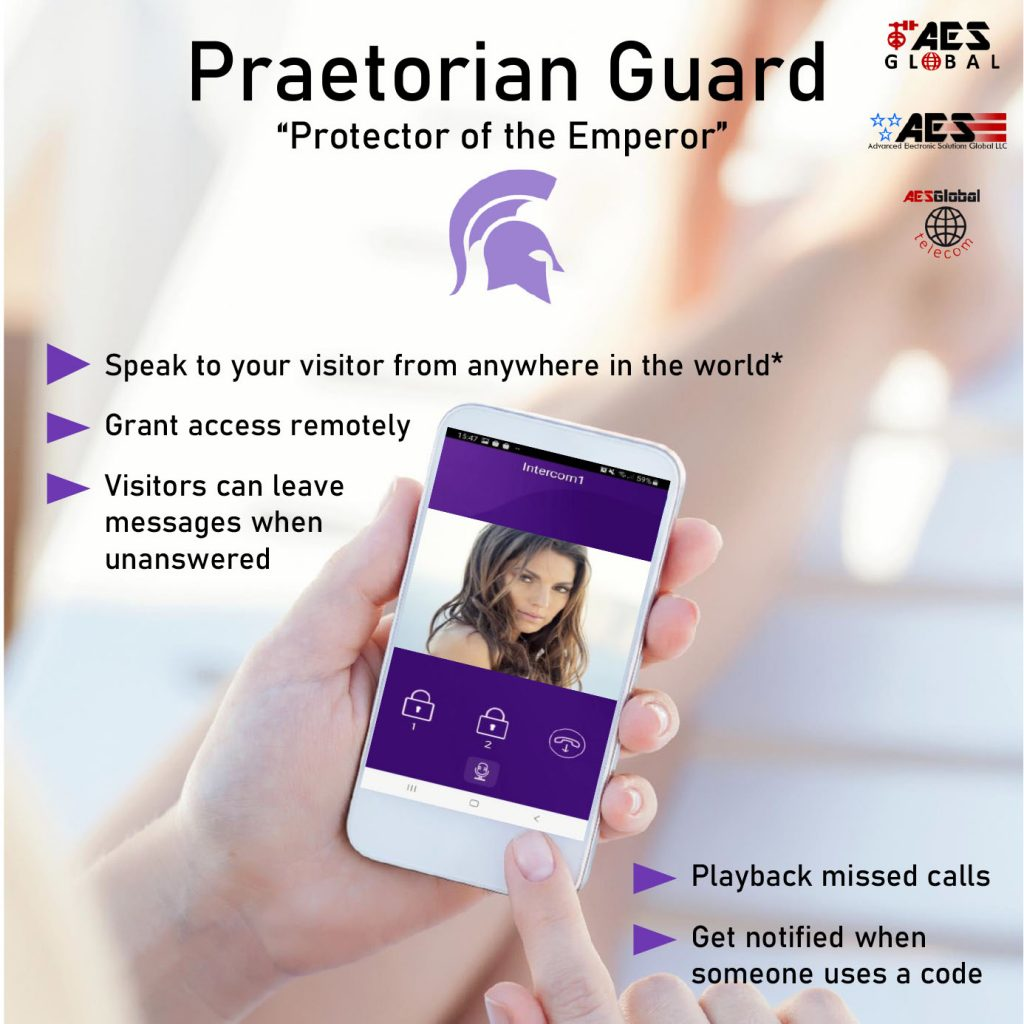 AES Praetorian Guard Intercom App In Use